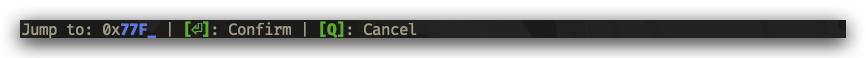 CPU inspector in input mode